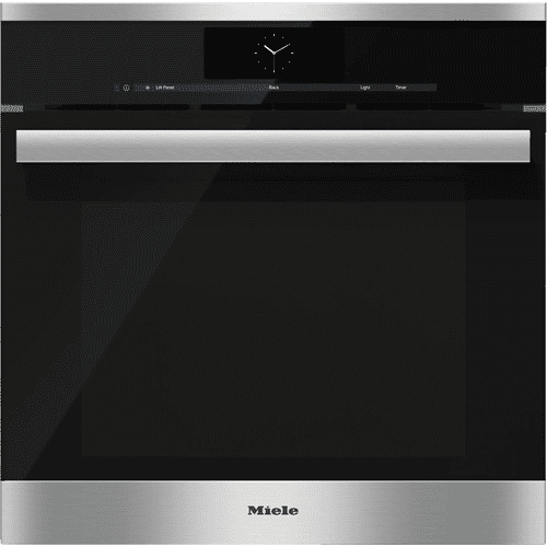 Steam oven with full-fledged oven function and XXL cavity - the Miele all-rounder with water (plumbed) connection for discerning cooks.