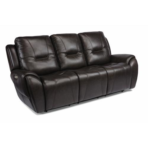 Flexsteel - Trip Triple Power Reclining Sofa with Power Headrests