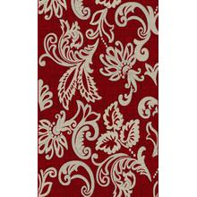 "Durable Flat Weave No Shedding Lifestyle 690 Area Rug by Rug Factory Plus - 2' x 7'5"" / Red"