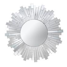 Glass Ray Framed Mirror, Wb