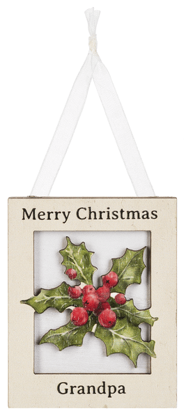 Ornament - Merry Christmas Grandpa