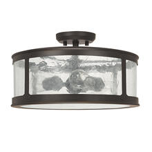 3 Light Outdoor Semi-Flush - Damp Rated