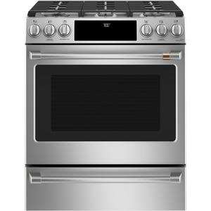 "Café 30"" Smart Slide-In, Front-Control, Gas Range with Convection Oven Product Image"