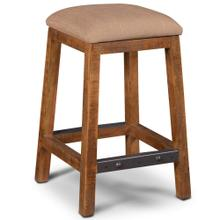 See Details - Backless Stool Upholstered - Rustic Collection