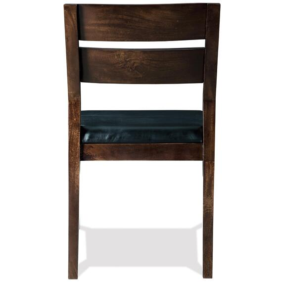 Riverside - Mix-n-match Chairs - Slat Back Upholstered Side Chair - Hazelnut Finish