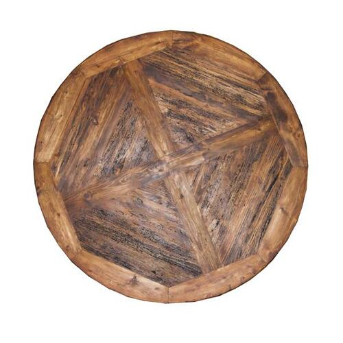 """L.M.T. Rustic and Western Imports - 60"""" Round Table W/Ped Base"""