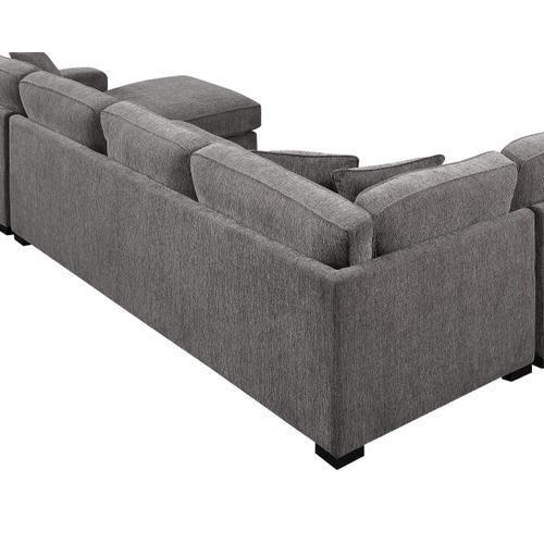 Emerald Home Repose U4174-31-03 Lsf Corner Sofa W/ 2 Pillows