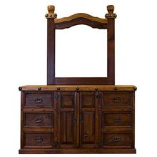 "Mirror : 42.5"" x 4"" x 49"" Don Carlos Dresser and Mirror"