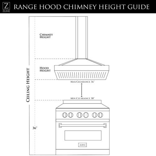 "ZLINE 36"" Island Range Hood (GL9i-36)"