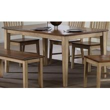 DLU-BR3660-PW  Rectangular Dining Table