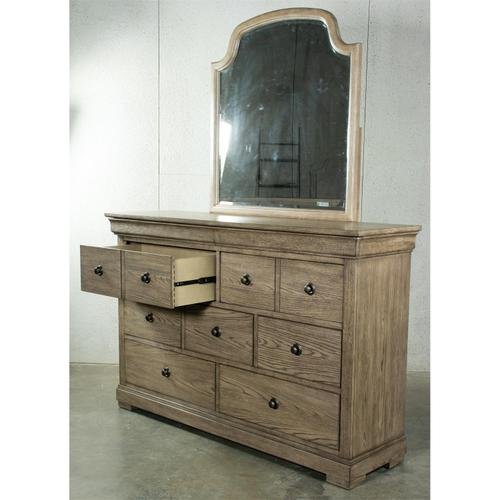 Louis Farmhouse - Nine Drawer Dresser - Antique Oak Finish