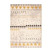 Step One - Geometric Triangles Area Rug, Beige and Yellow, 5' x 7'