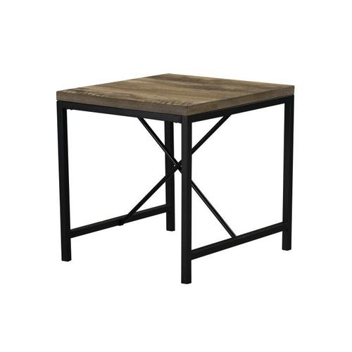 Silas 3-Pack Accent Tables, Light Brown Distressed Top with Black Metal Base