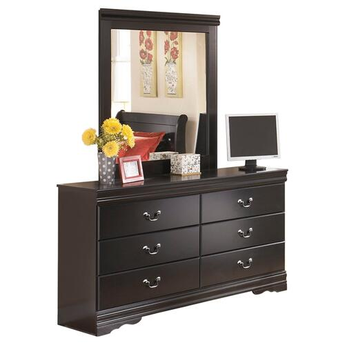 King Sleigh Headboard With Mirrored Dresser, Chest and 2 Nightstands