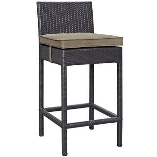 Convene Outdoor Patio Fabric Bar Stool in Espresso Mocha