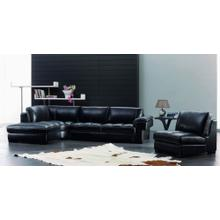 Divani Casa SBO3999 Modern Black Leather Sectional Sofa Set