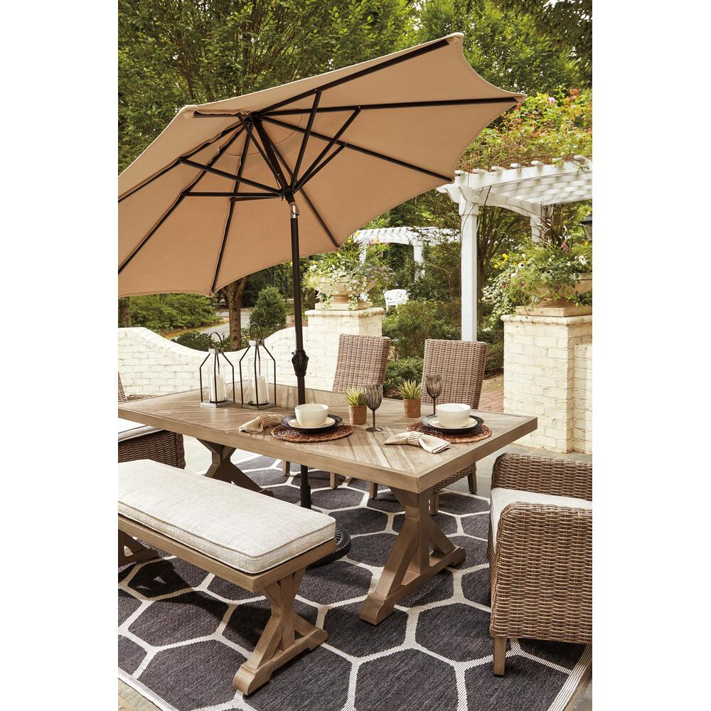 Outdoor Dining Table and 2 Chairs and 2 Benches