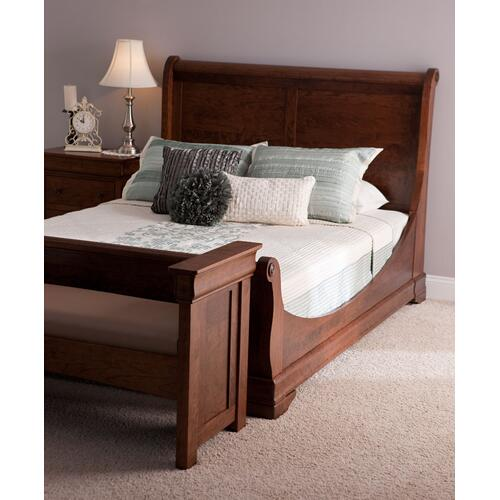Louis Philippe Sleigh Bed, Twin