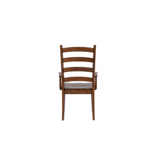 Ladder Back Dining Arm Chairs - Amish (Set of 2)
