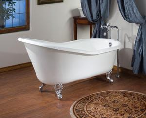ROLL RIM SLIPPER Cast Iron Clawfoot Bath With Continuous Rolled Rim Product Image