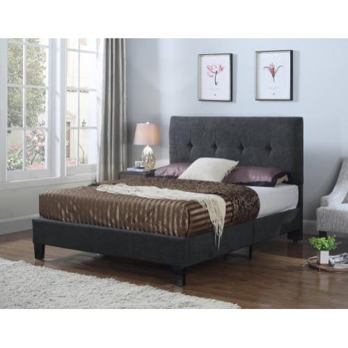 Emerald Home Harper Upholstered Bed Kit King Charcoal B129-12hbfbr-13