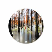 Orange Forest Round Acrylic Wall Clock