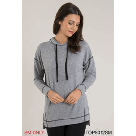 Heathered Hooded Pullover - S/M (2 pc. ppk.)