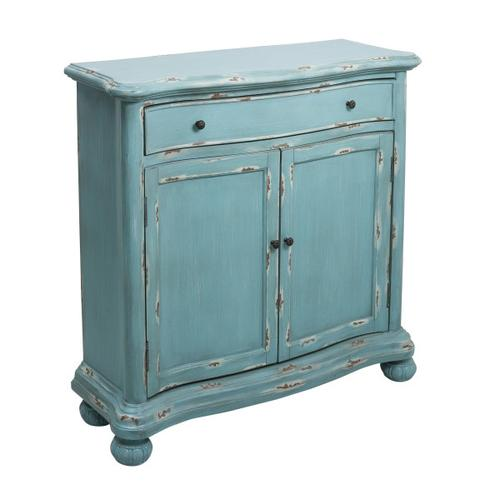 Accentrics Home - French Country Distressed Blue Door Chest