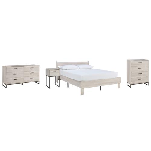 Ashley - Queen Platform Bed With Dresser, Chest and Nightstand