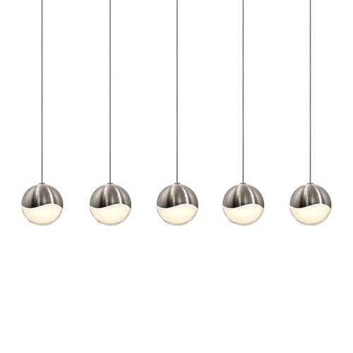Sonneman - A Way of Light - Grapes® LED Pendant [Size=5-Light Medium, Color/Finish=Satin Nickel, Shape=Rectangle Canopy]