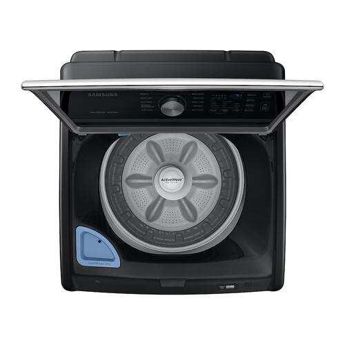 4.4 cu. ft. Top Load Washer with ActiveWave™ Agitator and Active WaterJet in Brushed Black