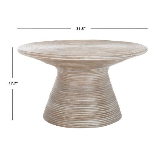 Safavieh - Cristina Metal Coffee Table - Grey White Wash