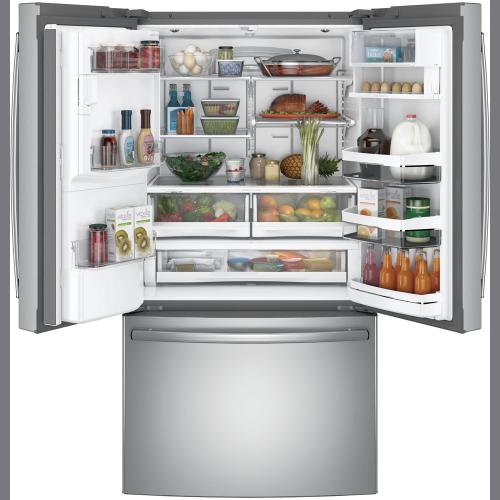 GE Profile 27.7 cu.ft. French-Door & Refrigerator with Keurig®-K-Cup® Stainless Steel PFE28PSKSS