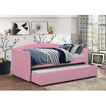 PINK PU DAYBED W/ TRUNDLE