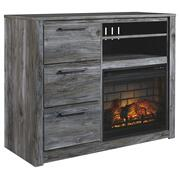 Baystorm Media Chest With Electric Fireplace Product Image