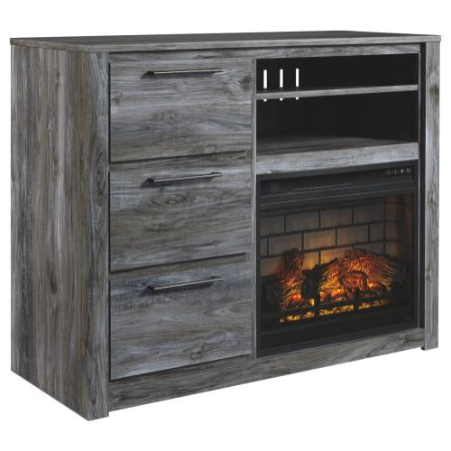 Baystorm Media Chest With Electric Fireplace