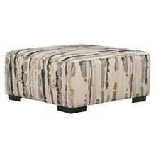 Nicolette Upholstered Cocktail Ottoman, Cement