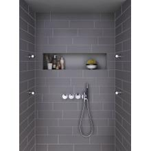 Thermostatic mixer with 3-way diverter - Light blue