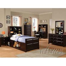Espresso Finish Full Size Storage Bedroom Set