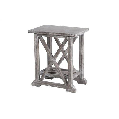 Accent Table, Available in Vintage Smoke Finish Only.