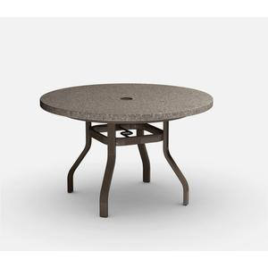"42"" Round Dining Table (with Hole) Ht: 27.25"" 37XX Universal Aluminum Base (Model # Includes Both Top & Base)"