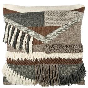 Freja Pillow - Charcoal / Brown