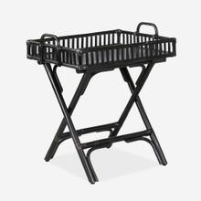 Wren Rattan folding Side Table, Black