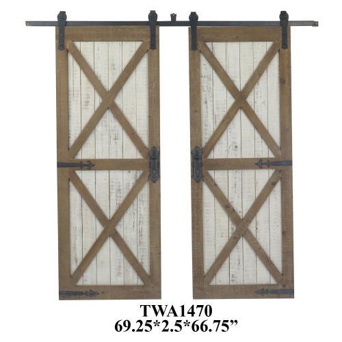 Double Galvenized Door