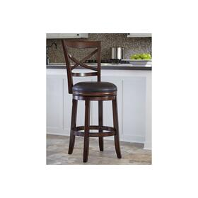 Porter Tall UPH Swivel Barstool Rustic Brown