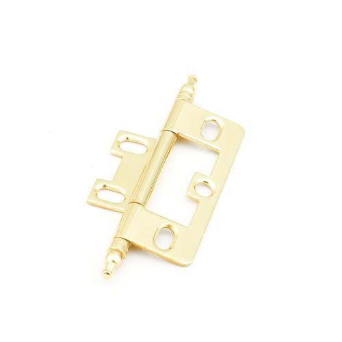 Solid Brass, Hinge, Minaret Tip Non-Mortise, Polished Brass finish