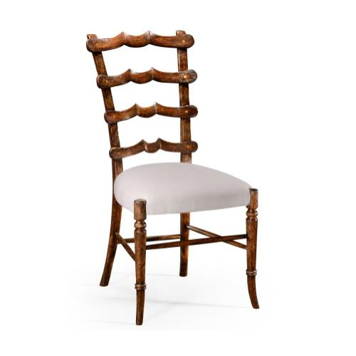 """Walnut """"Yoke"""" ladderback side chair"""