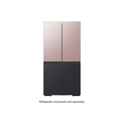 Samsung - BESPOKE 4-Door Flex™ Refrigerator Panel in Champagne Rose Steel - Top Panel
