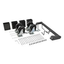 Mobile Cart Conversion Kit with Handle, Casters and Power Cord Manager for 16-Device AC and USB Charging Stations