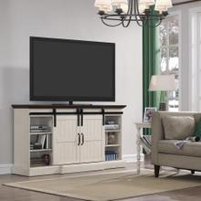 "Hogan TV Stand for TVs up to 70"", Weathered White (Electric Fireplace sold separately)"
